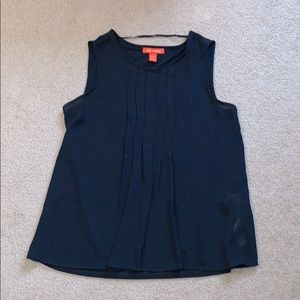 Joe Fresh Navy Blue Sleeveless Top // Size XS